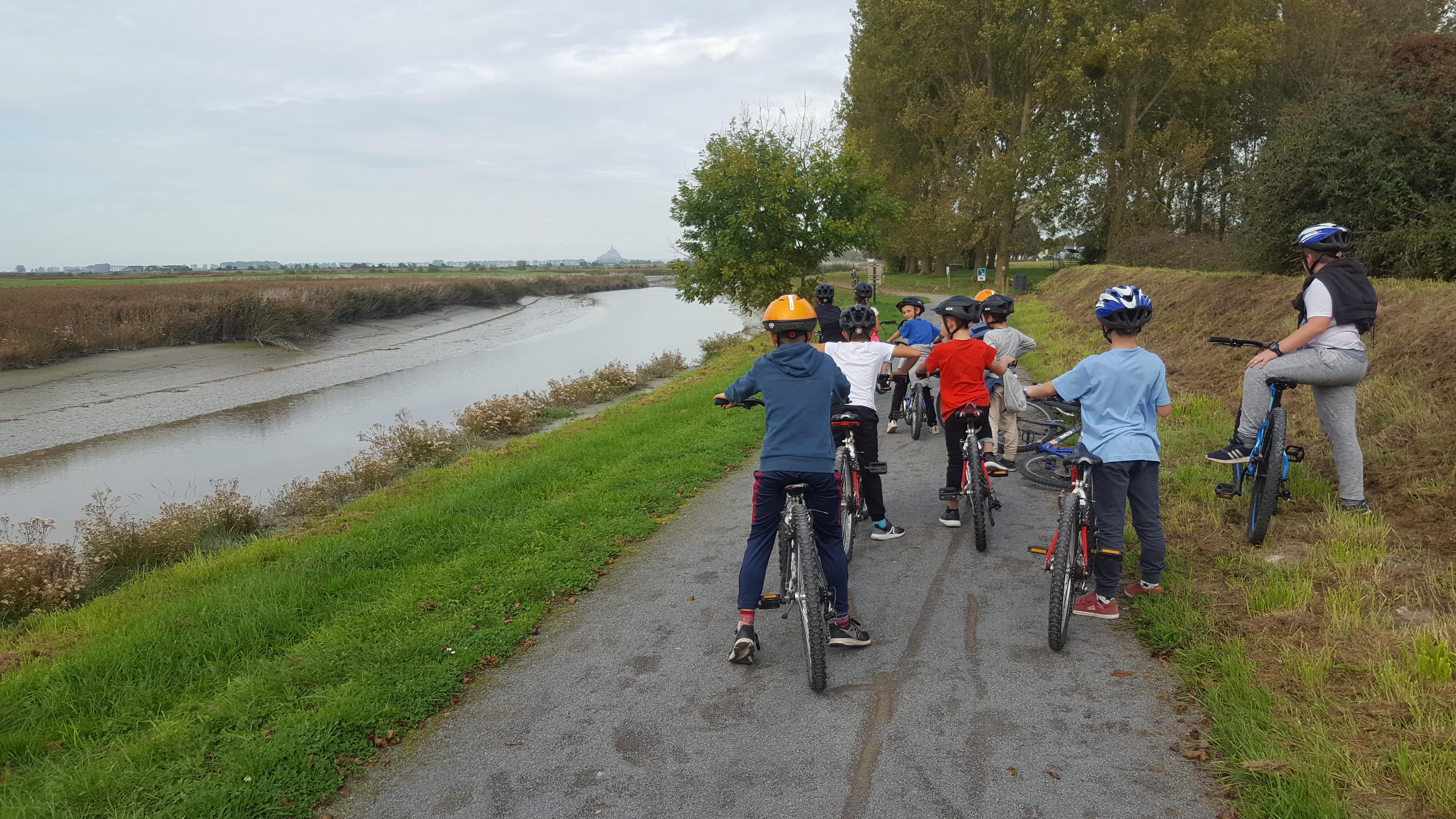 itinérance vélo mont saint michel