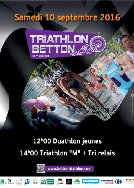 Affiche triathlon betton