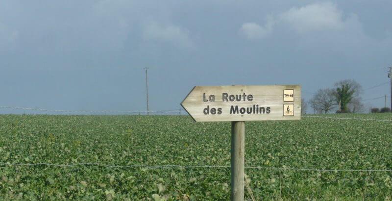 Route des Moulins à vélo à Pontorson