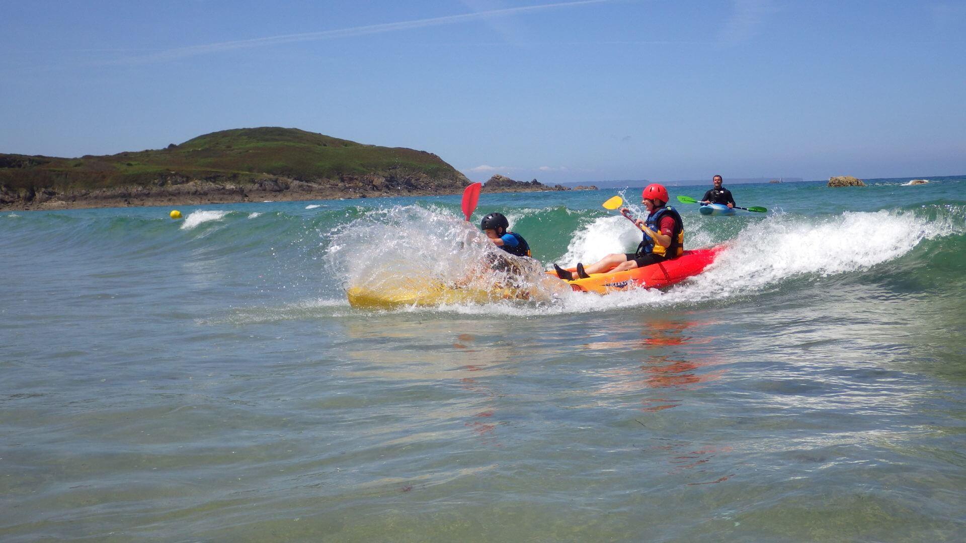 Kayak en mer avec les ados du samedi