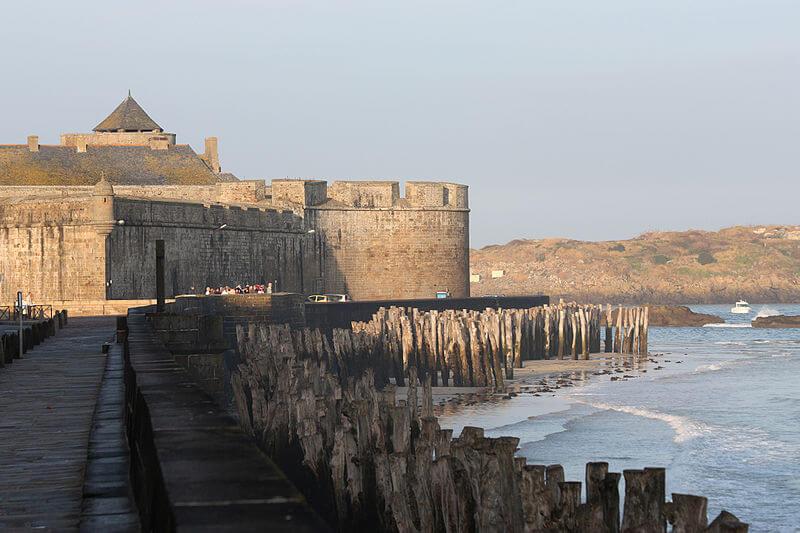 Rempart de Saint-Malo depuis le Sillon