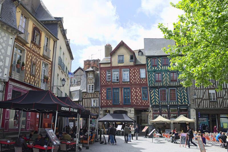 Place Sainte Anne, centre-ville de Rennes