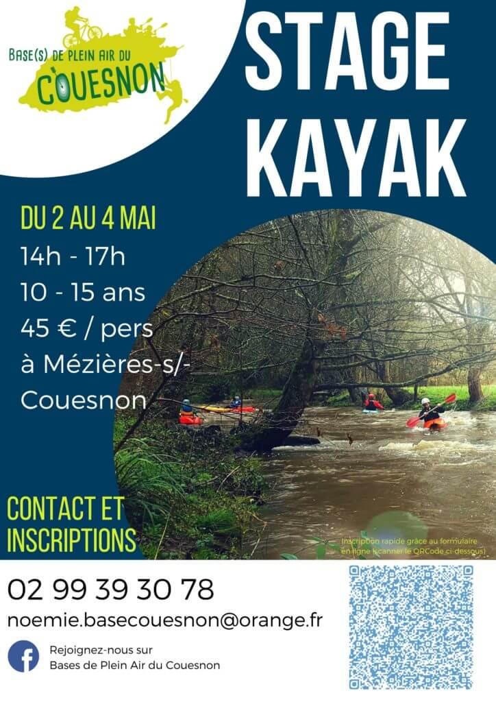 Affiche stage Kayak mai 2018